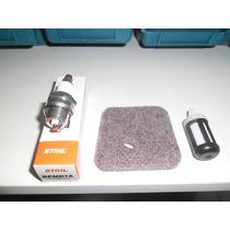 Kit Filtro De Ar+filtro Comb.+vela Roçadeira Stihl Fs 38/55