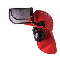 Capacete + Protetor Facial + Auricular Roçadeira Roçador