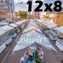 Lona 300 América Branca Impermeável P/ Barraca De Feira 12x8