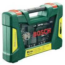Jogo De Bits E Broca Profissional Bosch V-line, 91 Peças