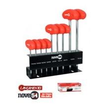 Jogo Kit Chave Torx 9 Peças T10 A T50 C/ Cabo Nove54 Vonder