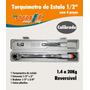 Torquímetro Estalo Cromo 1/2-20kg + Adaptador E Prolongador
