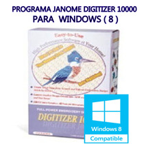 Janome Digitizer 10.000( Windows 8 )-com Video Para Instalar