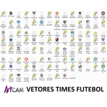 Artcam Cnc Router Vetores 2d Times De Futebol Pacotão