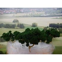 Escala N Kit Com 4 Arvores Verde Escuro Artesanal Veja Fotos