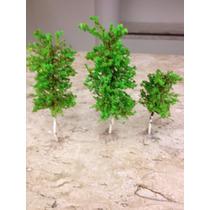 Kit C/ 3 Mini Árvores P/maquete -esc Ho 1/87-metal E Espuma