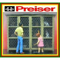 F70 Figuras Homem+ Criança Comprando Coelhos Ho 1:87 Preiser