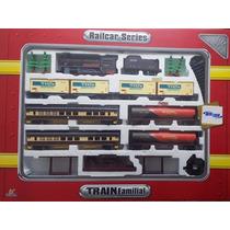 Ferrorama Trem Elétrico Locomotiva 325cm Vagões Som Luz 1:87