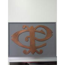 Placa Logo Ferrovias Ferreomodelismo Cia Paulistaplaca Em Md