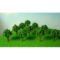 25 Árvores Miniatura Maquete Diorama 3 Cm Ferreomodelismo