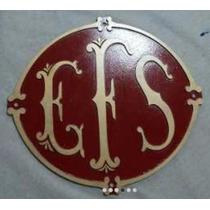 Placa Logo Ferrovias Ferreomodelismo Sorocabana