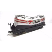 Vagão Tanque Cimento Tupi - Perez Ferromodelismo