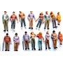 10 Figuras Humanas Escala 1:43 Plástico Maquete Arquitetura