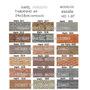 5 Unidades Muro P/ Maquete Ho1:87 Papel Adesivo