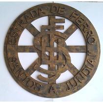 Logo Placa Ferrovias Ferreomodelismo Santos A Junidaí