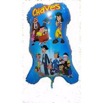 Balão Metalizado Turma Do Chaves - Kit 10 Balões