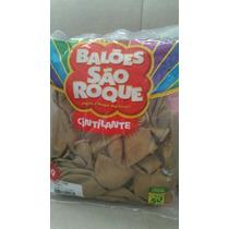 Balão São Roque Bexigas Cor Dourado Cintilantes 50 Unidades