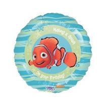 Balão Metalizado Nemo Tam. 9p 22,5cm - Kit Com 2 Unidades