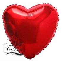 Balão Metalizado Coração 20 - Flutua Com Gás Helio