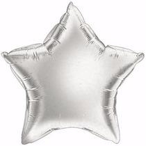 Kit C/ 10 Balão Estrela Metalizado 45cm - Prata