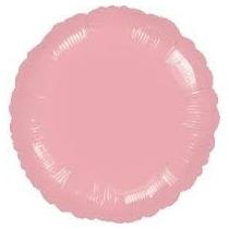 Balão Metalizado Rosa Redondo Tam.9p 22,cm Kit C/ 4 Unida
