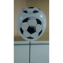 Balão/bexiga Bola De Futebol Nº 10 - 25 Unid.