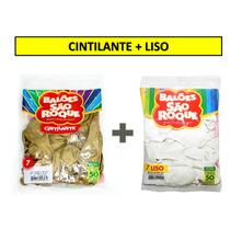 Dourado 9,99 + Liso 5,99 Balão São Roque Nº 7 - 60 Pacotes