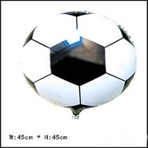 Kit C/ 10 Unid Balão Metalizado Formato Bola De Futebol -