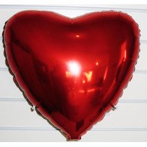 Balão Coração Metalizado C/20 Unidade