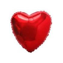 Balão Coração Vermelho 45cm Metalizados Kit C/ 50 Unid Vazio