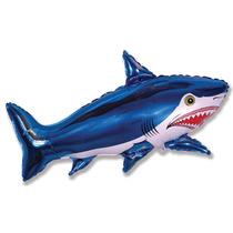 Balão Metalizado ,tubarão Pacote 5 Balões