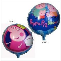 Balão Metalizado Peppa Pig Fadinha (50 Uni) Especial Atacado