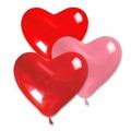 Balão Coração Vermelho Nº 6 Pacote Com 50 Unidades