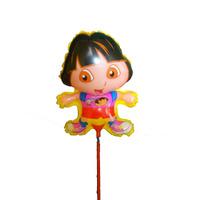 Balão Dora P/ Enfeite De Mesa 28x12c/ Palito (pct C/ 12 Und)