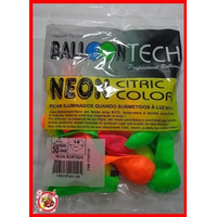 Kit 15 Pacotes De Bexiga Nº7 C/ 30 Un Cores Cítricas Neon