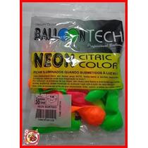 Balão Bexiga Balloontech Nº7 - Com 30 Un Cores Cítricas
