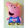 Balão Metalizado Peppa Pig - Kit Com 10 Unidades
