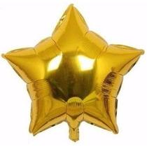 Kit C/ 10 Balão Metalizado Estrela Dourada 45cm R$ 19,99