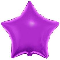 Balão Estrela Roxo 45cm Metalizados Kit C/ 10 Unid Vazio