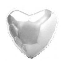 Balão Coração Prata 45cm Metalizados Kit C/ 15 Unid Vazio