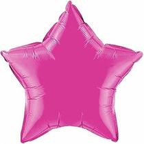 Balão Estrela Pink 45cm Metalizados Kit C/ 10 Unid Vazio