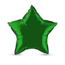 Balão Estrela Verde 45cm Metalizados Kit C/ 10 Unid Vazio