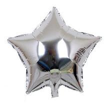 50 Baloes Coração Látex Festas Brindes Metalizados 25cm