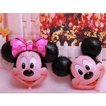 Balão - Mickey E Minnie - Kit Com 10 Unidades- (60cm)