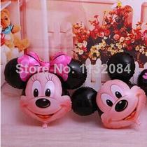 Balão Mickey E Minnie Cabeção Kit C/ 20 - R$ 56,00
