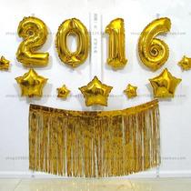 2016 Balão Metalizado Dourado Ou Prata Gigante 1 Metro