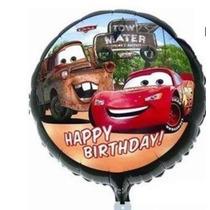 Balão Aniversário Festa Gás Helio Mcqueen Metalizado 45 Cm