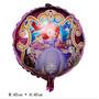 Kit C/ 10 Unidades Balão Princesa Sofia Rosa -r$ 35,00
