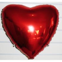 Balão Metalizado Coração - Pacote Com 40 Balões