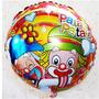 Balão Metalizado Gás Hélio Palhaço Patati Patata - 25 Unid